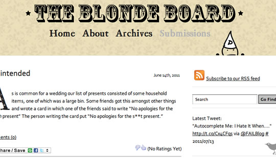 The Blonde Board